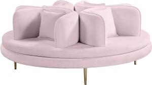 Circlet Velvet Roundabout Sofa Pink