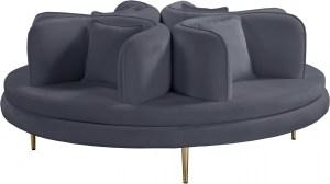 Circlet Velvet Roundabout Sofa Grey