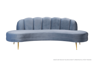 Swan Sea Blue Sofa – Gold