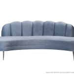 Swan Sea Blue Sofa – Silver