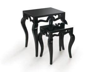Tiffany Nesting Tables Black