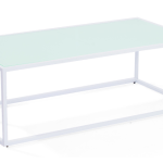 Mod White Rectangle Coffee Table