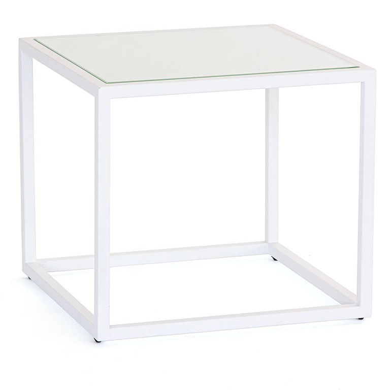 Mod White Square Side Table