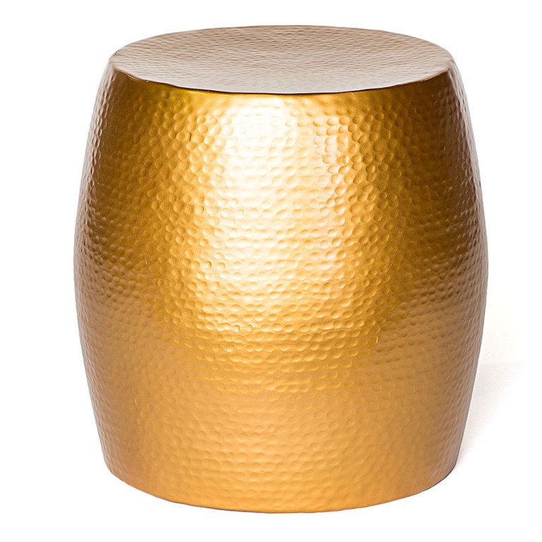 Pop Hammered Stool/Side Table Gold