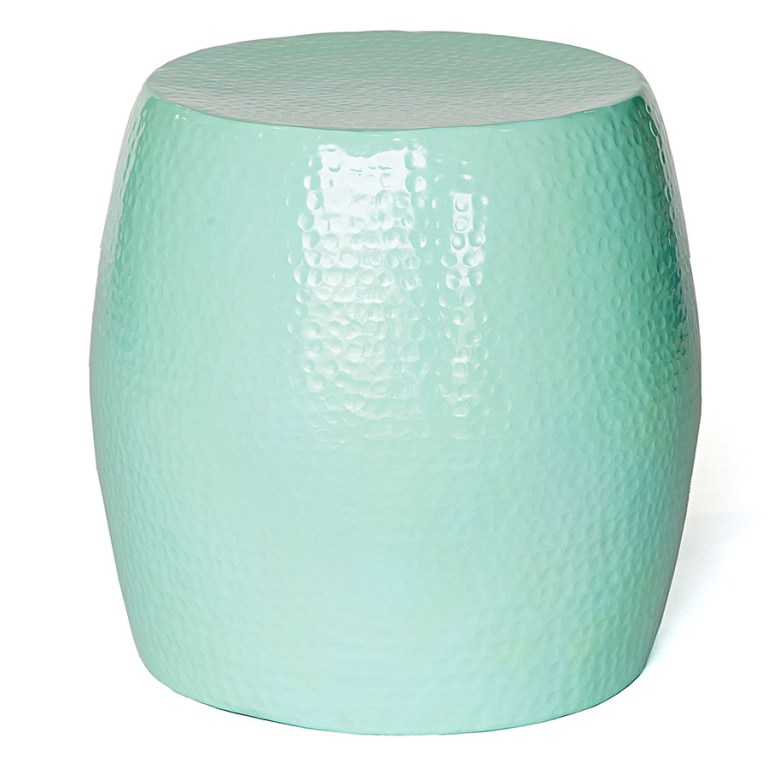Pop Hammered Stool/Side Table Mint Green
