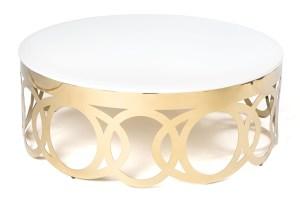 "O"" Coffee Table Gold"