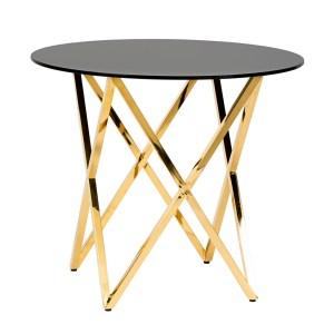 Opulence Cafe Table Gold/Black