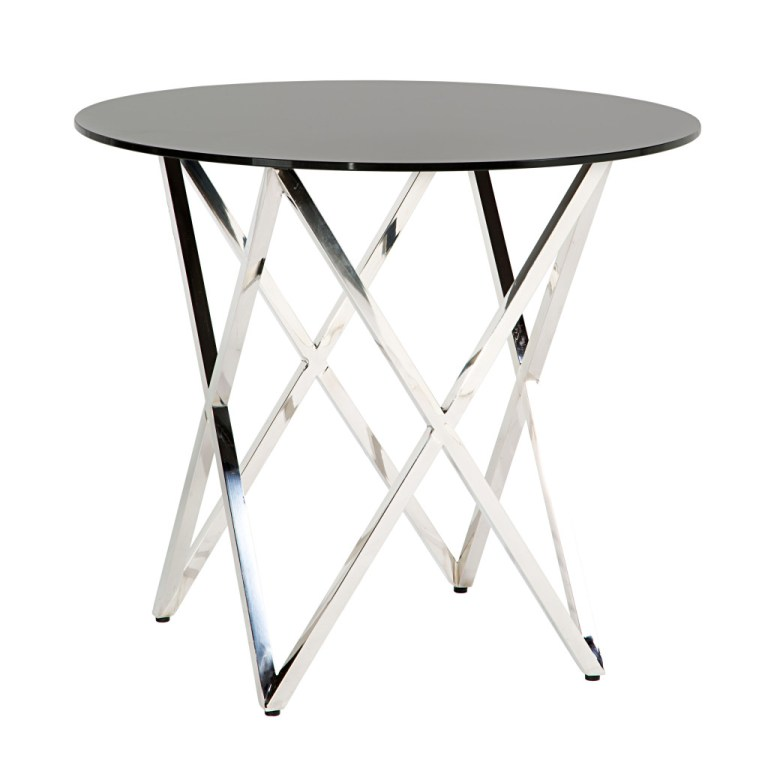 Opulence Cafe Table Silver/Black