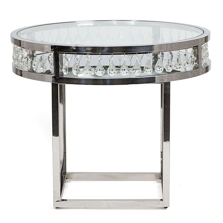 Le Crystal Round Cafe/Cake Table Silver