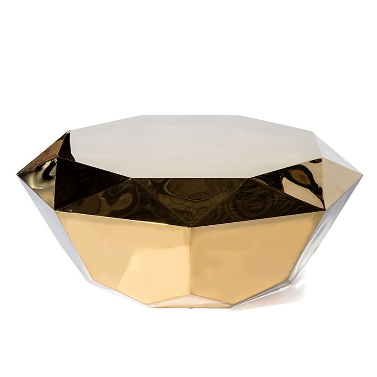 Solitaire Coffee Table Gold