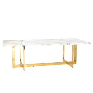 Hudson Dining Table Gold/Marble