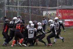 Goallinestand der Stuttgarter Defense