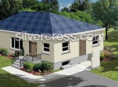 Deck lift shown on a house| Vertical Platform Lift | Silver Cross
