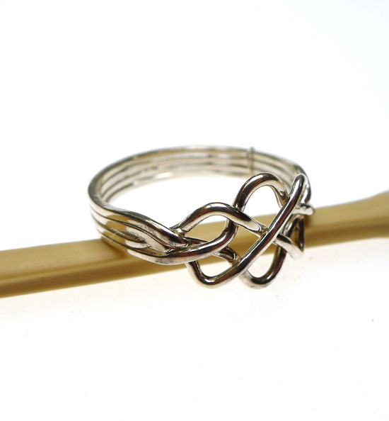 Sterling Silver Celtic Puzzle Ring 4 Band Celtic Knot