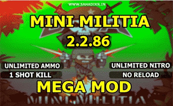 Download Mini Militia Unlimited Health & Ammo Nitro Pro Pack Hack Apk Free