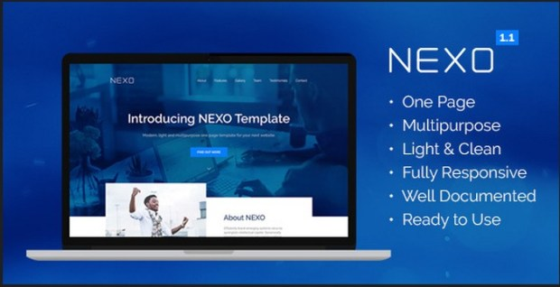 NEXO – Multipurpose One Page HTML5 Template Download