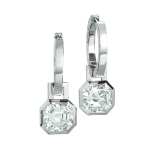 Silverhorn - Asscher cut diamond earrings