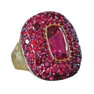 large gemstone ring silverhorn jewelers