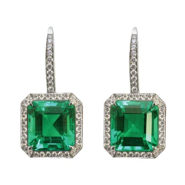 Silverhorn emerald earrings