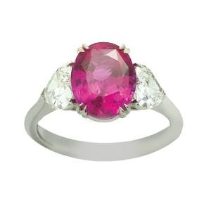 Silverhorn ruby ring