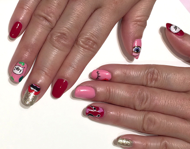 Nailart designed by Safori, inspired by Yazbukey for Shu Uemura.  Complete set done at Caplus Nails at Branche Singapore, located at 13 Stamford road B1-33, Capitol Piazza,Singapore 178905.