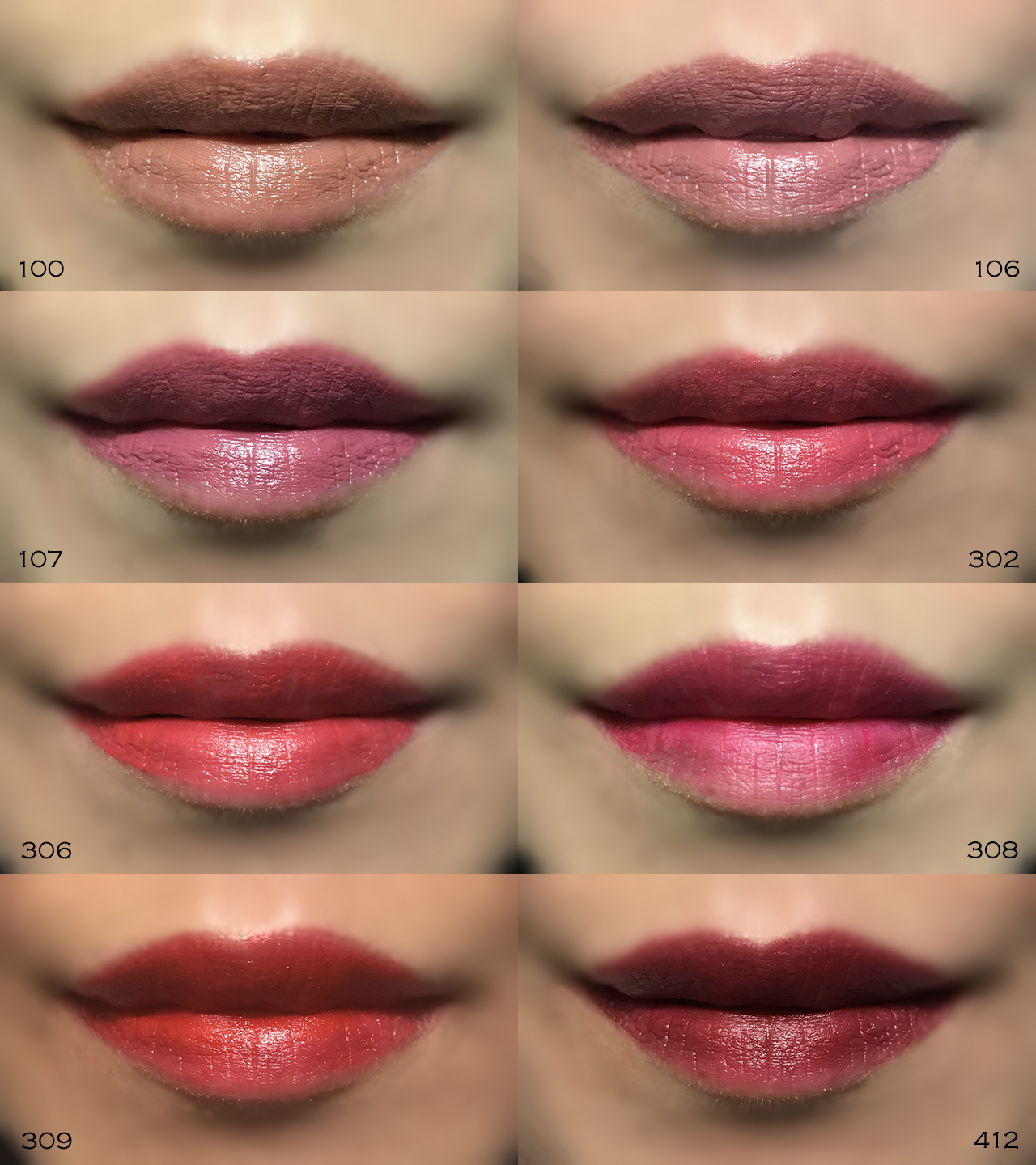 Givenchy Le Rouge Liquide lip swatches