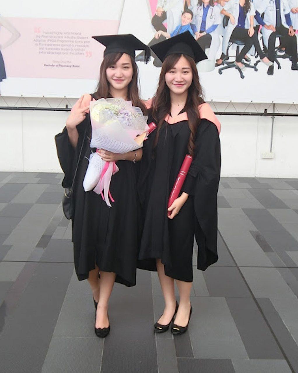 twins graduating cabin crew