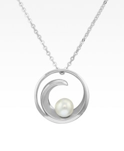 Wave with Pearl Necklace