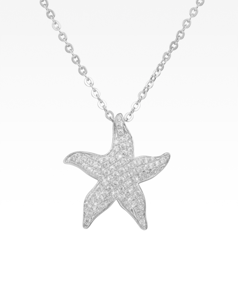 Pavé Starfish Necklace