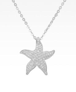 Pavé Starfish Necklace