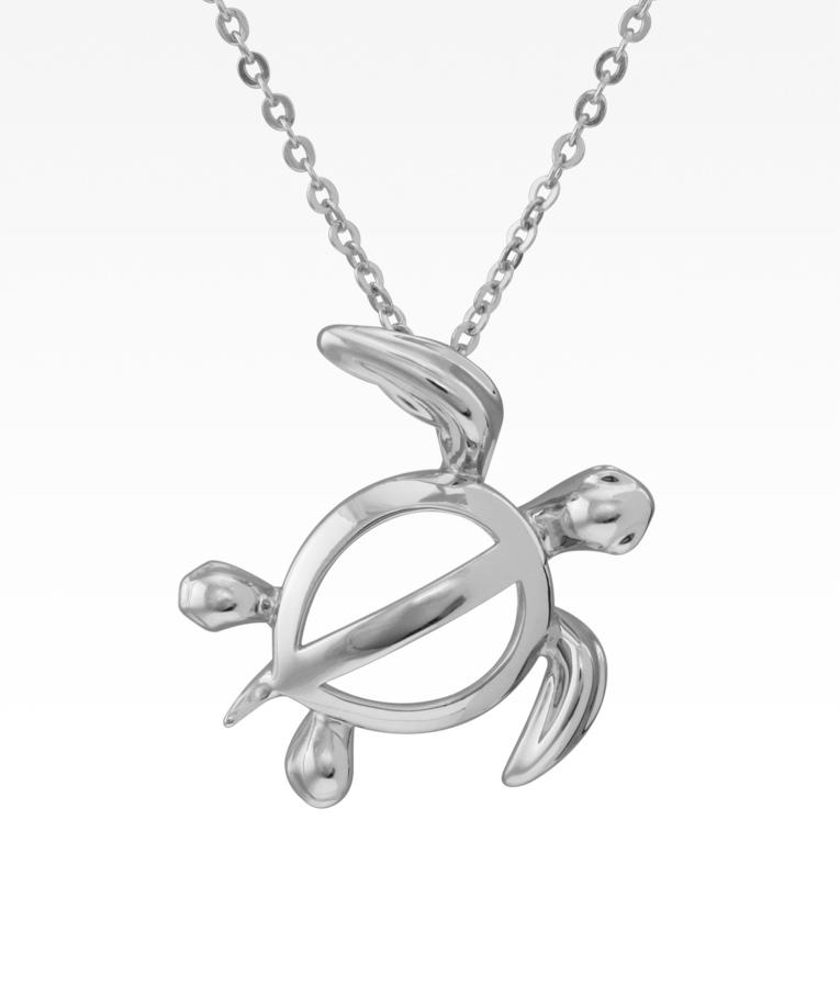 Honu sea turtle necklace silver linings honu sea turtle necklace aloadofball Choice Image