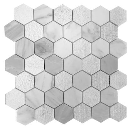 hampton large textured hexagon
