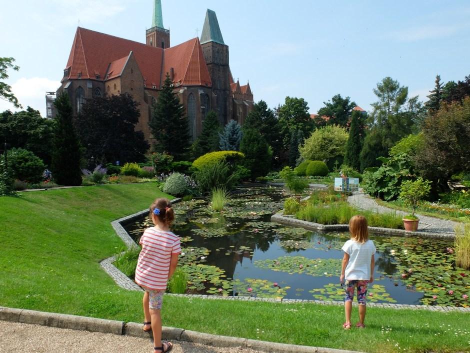 Wrocław z dziećmi ogród botaniczny latem