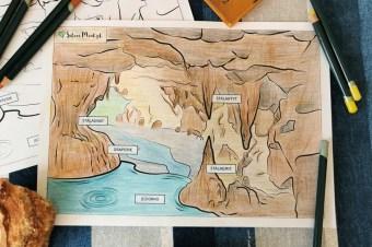 Jaskinia na kwarantannie – kolorujemy, czytamy, planujemy