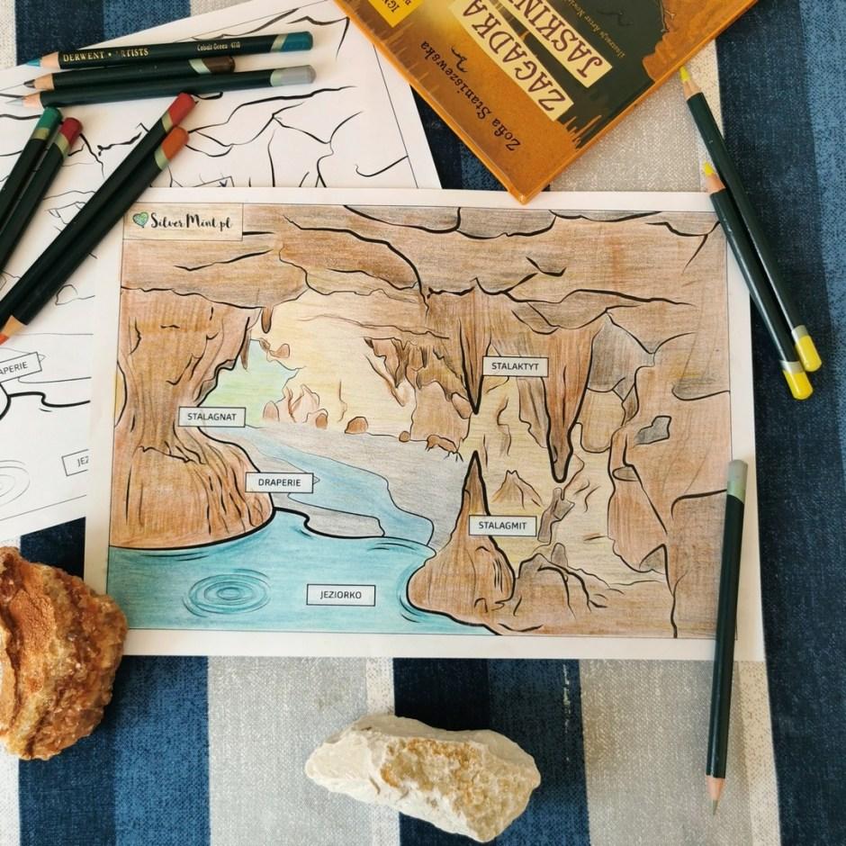 SilverMint blog kolorowanka jaskinia