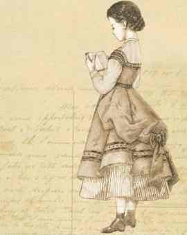 vintage girl reading