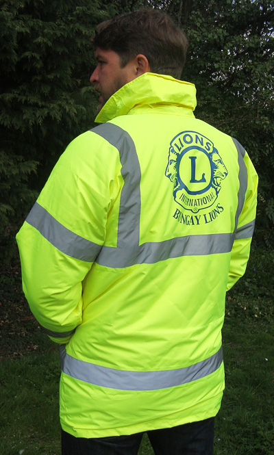 High Visibility Safety Jackets with custom print – Silver
