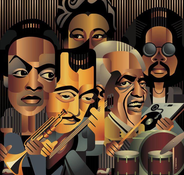 INTEAL Wine Jazz Bistrot - Miles Davis, Django Reinhardt, Ella Fitzgerald, Art Blakey, Kenny Dixon Jr