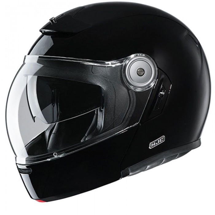hjc integral modular in jet helmet vintage fiber v90 motorcycle scooter metal black