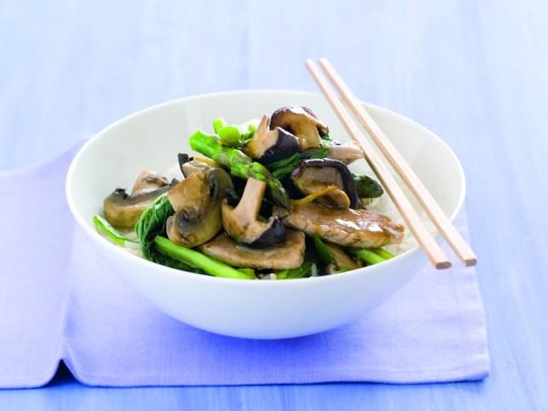 Mushroom & pork stirfry