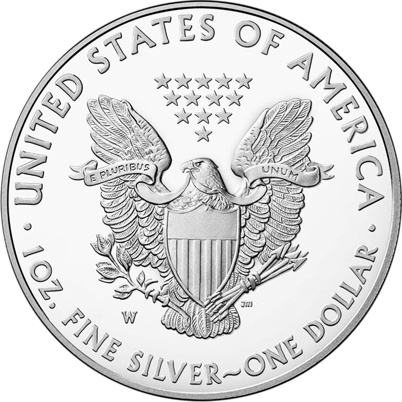 W Silver American Eagle Coin Pf In Ogp