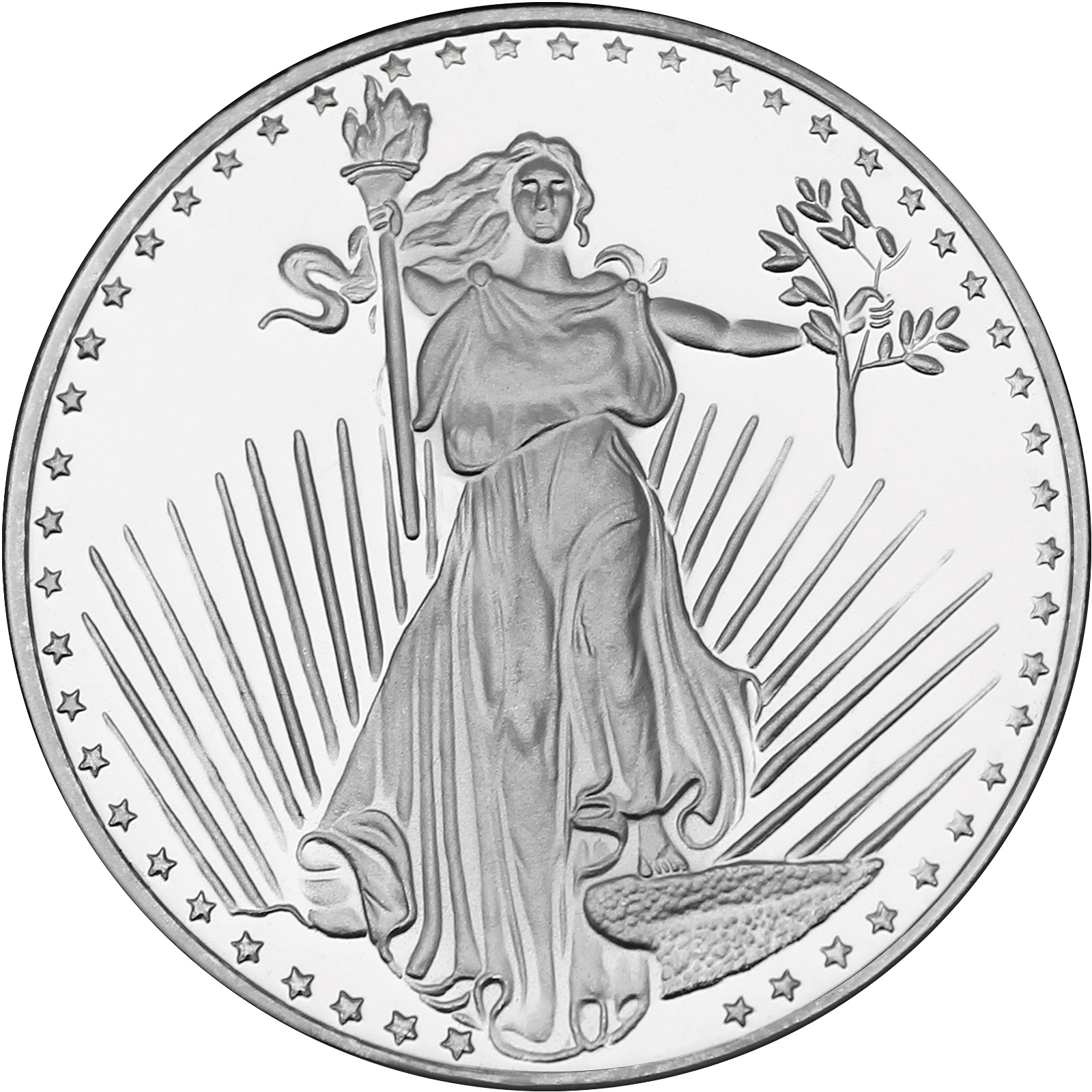 Saint Gaudens 1oz 999 Silver Medallion By Silvertowne Lot