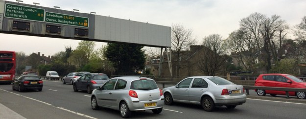 Southbound queues on the A102 will be even more common if the Silvertown Tunnel is built