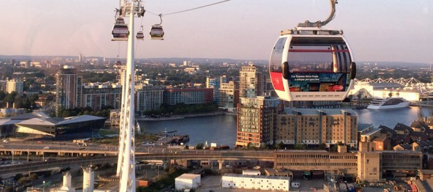 Britannia Village from the Thames Cable Car