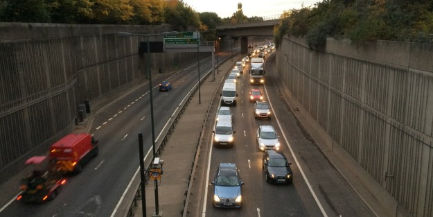 A southbound jam on the A2 in Eltham - a scene that'll be even more common if the Silvertown Tunnel goes ahead