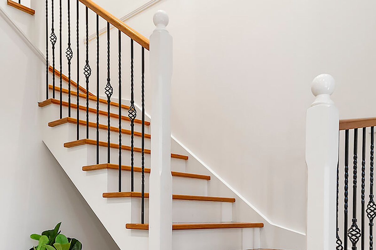 Our Wood Refinishing Services Silver Tree Wood Refinishing | Cost To Refinish Wood Railing | Stair Treads | Interior | Gel Stain | Paint | Balusters