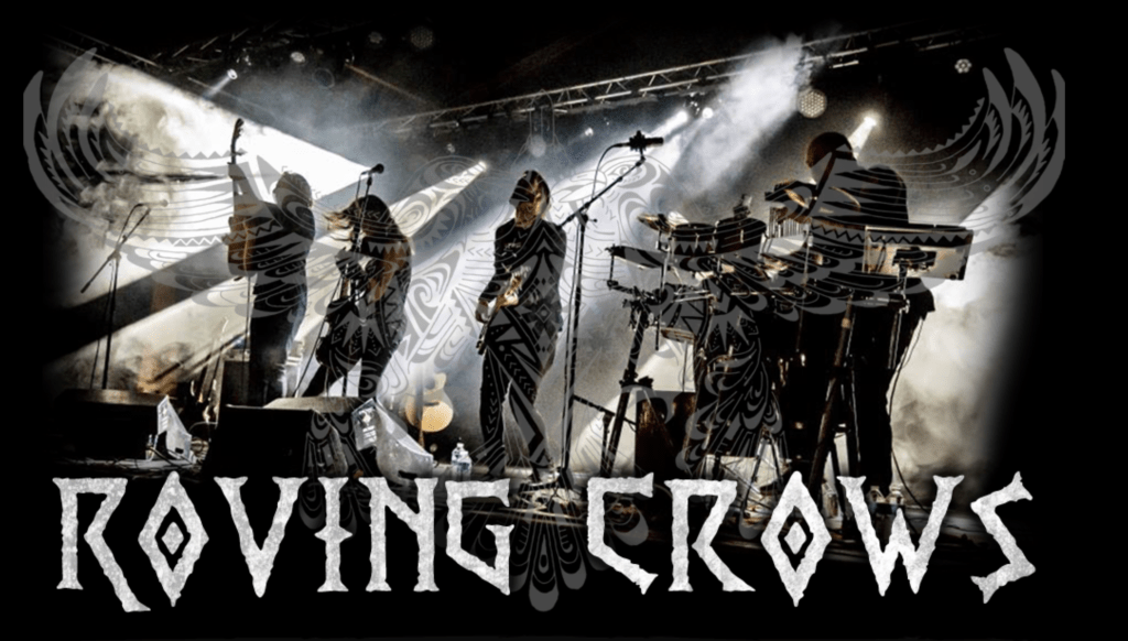 picture of the Roving Crows at a Gig