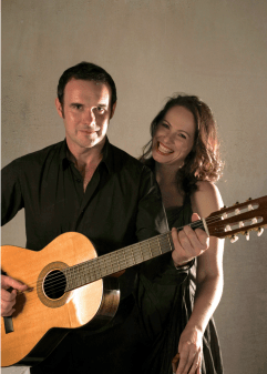 Trovatori are baritone and soprano duo, Darren and Caroline Clarke, with Darren on Guitar