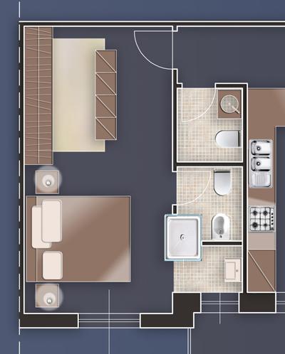 architettura di interni, cabina armadio