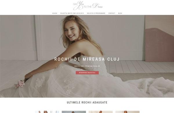 Rochii de mireasa Cluj optimizare seo web design cluj